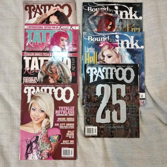 7 Tattoo Magazines Bundle